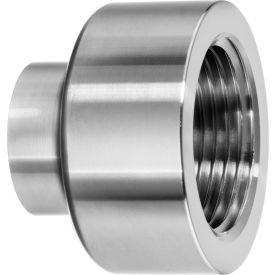 "304 SS Straight Adapter, Tube-to-Female Threaded Pipe for Butt Weld Fittings - for 1-1/2"" Tube OD"