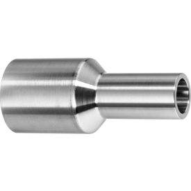 """304 Stainless Steel Straight Adapter, Tube-to-Pipe for Butt Weld Fittings - for 1/2"""" Tube OD"""