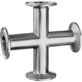 "304 Stainless Steel Cross for Quick Clamp Fittings - for 2-1/2"" Tube OD"