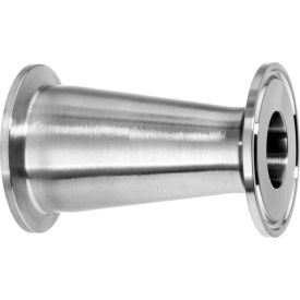 """304 Stainless Steel Straight Reducers, Tube-to-Tube for Quick Clamp Fittings - for 4 x 3"""" Tube OD"""