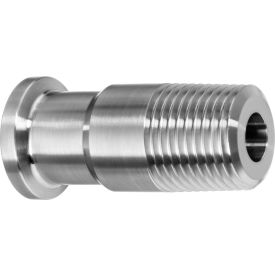 """316SS Straight Adapters, Tube-to-MNPT for Quick Clamp Fittings - for 4"""" Tube OD x 4"""" NPT Male"""