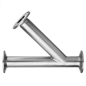 """304 Stainless Steel 45 Degree Tees for Quick Clamp Fittings - for 1"""" Tube OD"""
