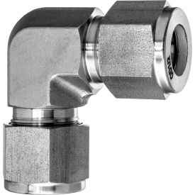 """316 SS 37 Degree Flared Fitting - 90 Degree Elbow Connector for 3/4"""" Tube OD"""