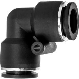 "Push to Connect Tube Fitting - Nylon Plastic - 90 Degree Elbow Connector - 5/32"" Tube OD - Pkg Qty 22"