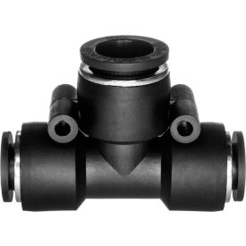 Push to Connect Tube Fitting - Nylon Plastic - Tee Reducer - 8mm Tube OD x 10mm Tube OD