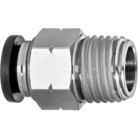 """Push to Connect Tube Fitting - Nylon Plastic - Straight Adapter - 1/4"""" Tube OD x 1/4"""" NPT Male"""