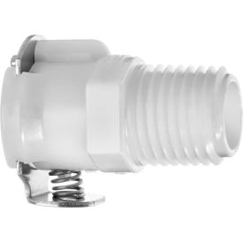 """Quick Disconnect Tube Fitting Straight Adapter w/Auto Shut-Off - 1/8"""" Socket x 1/4"""" Male NPT"""