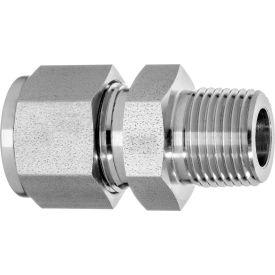 "316 SS Double-Ferrule Instrumentation Ftg -Straight Adapter for 3/4"" Tube OD x 3/4"" MNPT"