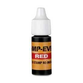 U.S. Stamp & Sign Ink Refill, For Pre-Inked Stamp-Ever® Stamps, 0.24 fl. oz. Bottle, Red