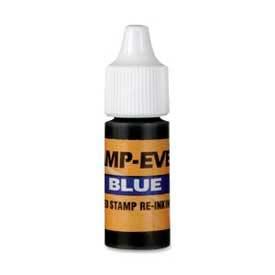 U.S. Stamp & Sign Ink Refill, For Pre-Inked Stamp-Ever® Stamps, 0.24 fl. oz. Bottle, Blue