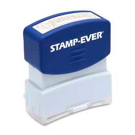 """U.S. Stamp & Sign Stamp-Ever® Pre-Inked Stamp, CANCELLED, 9/16"""" x 1-11/16"""", Red"""