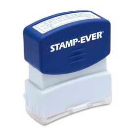 """U.S. Stamp & Sign Stamp-Ever® Pre-Inked Stamp, ENTERED, 9/16"""" x 1-11/16"""", Blue"""
