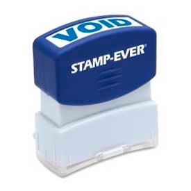 "U.S. Stamp & Sign Stamp-Ever® Pre-Inked Stamp, VOID, 9/16"" x 1-11/16"", Blue"