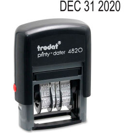 "U.S. Stamp & Sign Trodat® Self-inking Date Stamp, 4-Band, 3/8"" x 1-5/8"", Black"