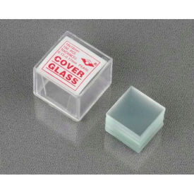 AmScope CS-S18-100 100 pcs. Pre-Cleaned 18 x 18mm Square Microscope Cover Slips  by