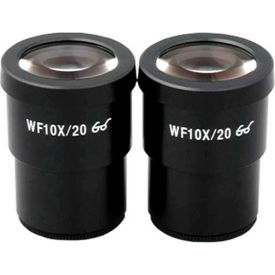 AmScope G-EP10X30 Super Widefield 10X Microscope Eyepieces (30mm), 1 Pair by