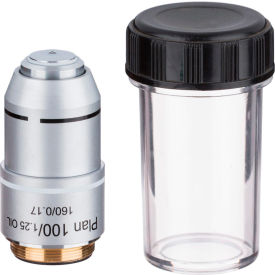 AmScope PA100X 100X Plan Achromatic Microscope Objective Lens by