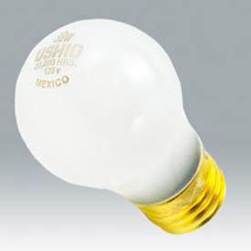 Ushio 1003296 25a19/Yellow/20,20,000 Hours, A19, 25 Watts, 20000 Hours Bulb - Pkg Qty 120