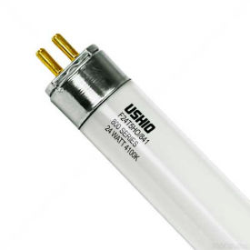 "Ushio 3000390 F24t5ho/841, 22"" 85cri, T5, 24 Watts, 20000 Hours Bulb - Pkg Qty 25"