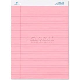 """Sparco™ Colored Legal Pad, 8-1/2"""" x 11-3/4"""", Wide Ruled, Pink, 50 Sheets/Pad, 12 Pads/Pack"""