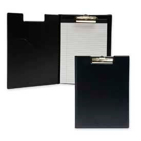 """Sparco™ Pad Holder with Clip, Letter-Size, 9-1/2"""" x 12-5/8"""", Vinyl Cover, Black"""
