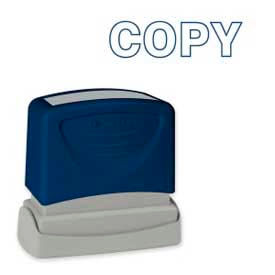 "Sparco™ Pre-Inked Message Stamp, COPY, 1-3/4"" x 5/8"", Blue"