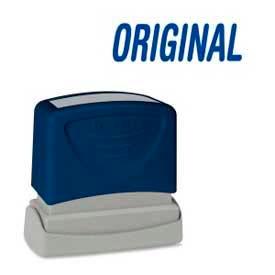 "Sparco™ Pre-Inked Message Stamp, ORIGINAL, 1-3/4"" x 5/8"", Blue"