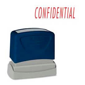 """Sparco™ Pre-Inked Message Stamp, CONFIDENTIAL, 1-3/4"""" x 5/8"""", Red"""