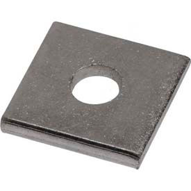 """Unistrut 1-5/8"""" Square Washer P1063eg, 1 Hole, Electro-Galvanized, 3/8"""" Package Count 100 by"""