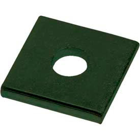 """Unistrut 1-5/8"""" Square Washer P1063gr, 1 Hole, Perma-Green Iii, 3/8"""" Package Count 100 by"""