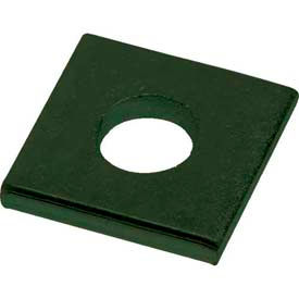 """Unistrut 1-5/8"""" Square Washer P1064gr, 1 Hole, Perma-Green Iii, 1/2"""" Package Count 100 by"""