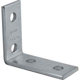 """Unistrut 1-5/8"""" 4 Hole 90° Fitting P1325eg, Electro-Galvanized - Pkg Qty 25"""