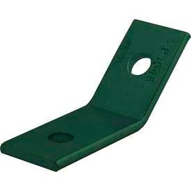 "Unistrut 1-5/8"" 45° 2 Hole Angular Fitting P1546gr, Perma-Green® Iii - Pkg Qty 20"
