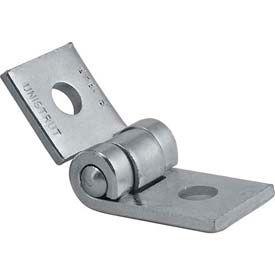 """Unistrut 1-5/8"""" 2 Hole Adjustable Hinge P1843eg, Electro-Galvanized - Pkg Qty 20"""