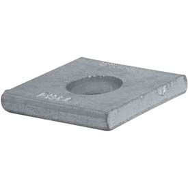 """Unistrut 1-5/8"""" Square Washer P1964eg, 1 Hole, Electro-Galvanized, 5/8"""" Package Count 50 by"""