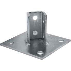 "Unistrut 1-5/8"" Post Base P2072aeg, Electro-Galvanized, Std - Pkg Qty 10"