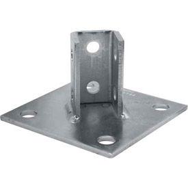 "Unistrut 1-5/8"" Post Base P2072asqeg, Electro-Galvanized, Sq - Pkg Qty 10"