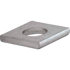 """Unistrut 1-5/8"""" Square Washer P2471eg, 1 Hole, Electro-Galvanized, 3/4"""" Package Count 100 by"""