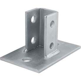 "Unistrut 1-5/8"" Post Base P2942eg, Electro-Galvanized - Pkg Qty 10"