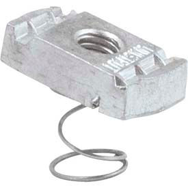 "Unistrut Strut Channel 1-5/8"" Channel Nut P4008eg, Electro-Galvanized, 3/8-16 - Pkg Qty 100"