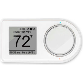 LUX Smart WiFi Thermostat GEO-WH Amazon Alexa & Google Home Compatible 2H/2C Programmable 24VAC
