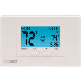 LUX Low Voltage Digital 7-Day Programmable Thermostat P722U - 2 Stage Heat 2 Cool Heat Pump 24VAC