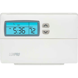 LUX Low Voltage Digital 5/2-Day Programmable Thermostat PSP511LC - 1 Stage Heat and Cool 24 VAC