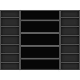 Vari-Tuff Deep Door Bin & Shelf Cabinet - 48x24x84 18 Shelves No Bins