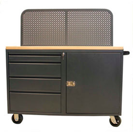 """Valley Craft, 48""""W Modular Mobile Cabinet, 3 Drawers, (1) 6"""", (2) 9"""" Heights, Tropic Sand"""