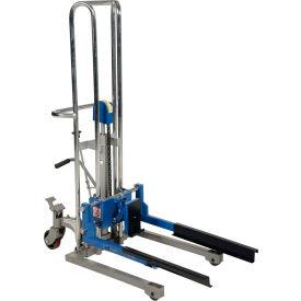 Vestil Adjustable Box Stacker ABS-130 - Foot Pump Operated - 380 Lb. Capacity