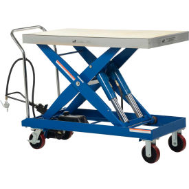 Vestil Pneumatic-Hydraulic Mobile Scissor Lift Table AIR-2000 2000 Lb. Cap.
