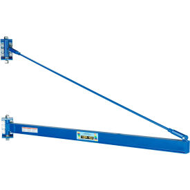 Vestil High-Ceiling Tie Rod Wall Mount Jib Crane JIB-HC-10 1000 Lb. Capacity