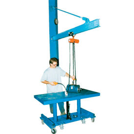 Vestil High-Ceiling Tie Rod Wall Mount Jib Crane JIB-HC-6 600 Lb. Capacity