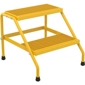 Vestil Aluminum Yellow Step Stand - 2 Step - SSA-2-KD-Y